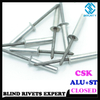 COUNTERSUNK HEAD ALUMINUM CLOSED END BLIND RIVETS
