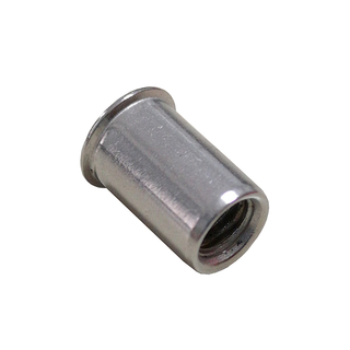 Stainless Steel Open End Reduced Head Plain Insert Rivet Nuts