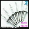 Stainless Steel Flange Head Blind Rivets With Stainless Steel Mandrel