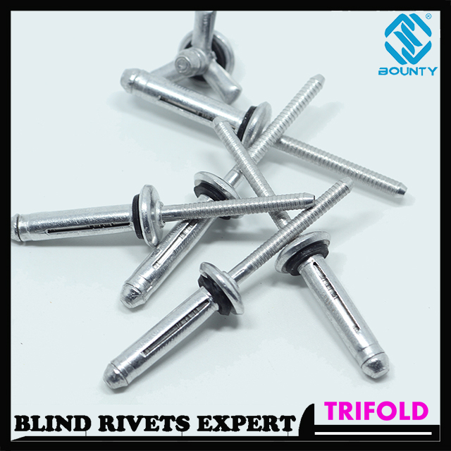 ALUMINUM TRIFOLD RIVETS WITH WASHER